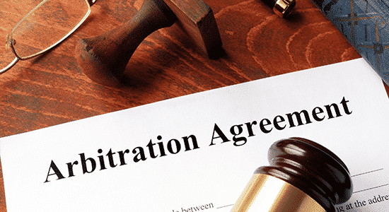 Arbitration agreement and a gavel